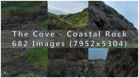 The Cove Coastal Rock - Photopack 680+ Images
