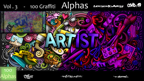 Vol. 3  -   100  LATEST  GRAFFITI    ALPHAS