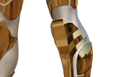 Wonder Woman Golden Eagle Armor Legs for Cosplay 3D print model