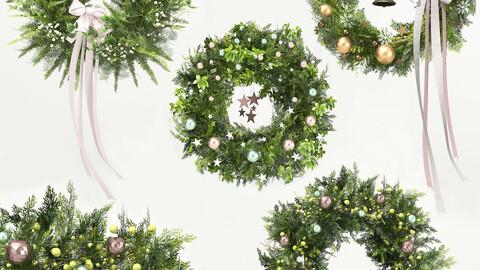 Christmas Decoration 02-Green Wreath