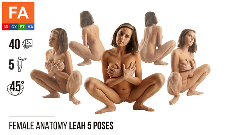 Female Anatomy | Leah 5 Sitting Poses #1 | 40 Photos