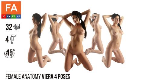 Female Anatomy | Viera 4 Kneeling Poses #1 | 32 Photos