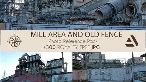 Photo Reference Pack: Mill AREA AND OLD FENCE NEAR BY
