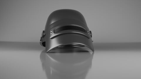 Helmet level 3 of PUBG Low-poly 3D model