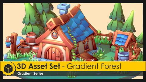 3D Asset Set - Gradient Forest