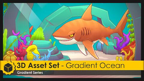 3D Asset Set - Gradient Ocean