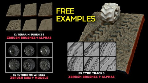 FREE Explorer Ultimate Bundle Examples (wheels + tyre tracks + terrain surfaces)