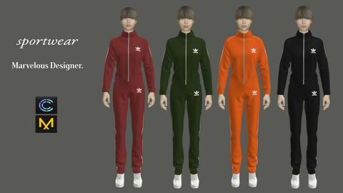 Sportwear- Marvelous Designer & CLO3d projects