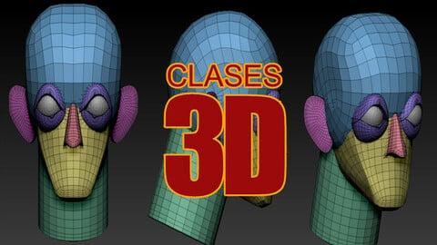 Malla base para creación de cabezas 3d hecha con blocking / Head Blocking Basemesh