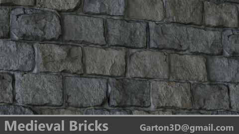 Medieval Bricks PBR Material