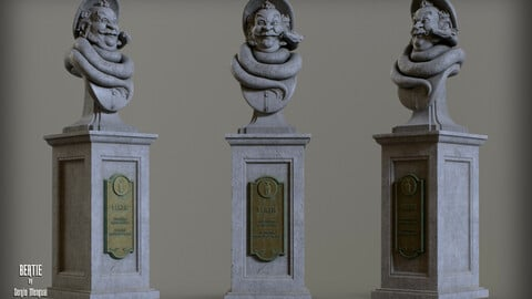 Haunted Mansion Bertie 3D Printable Bust DELUXE VERSION 3D print model