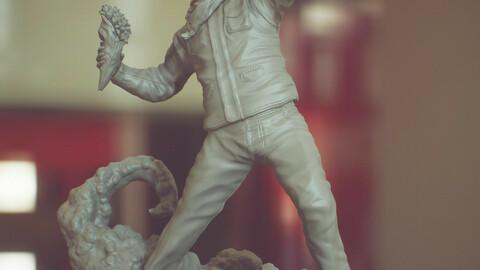 Bansky Rioter STL Statue for 3D printing 3D print model