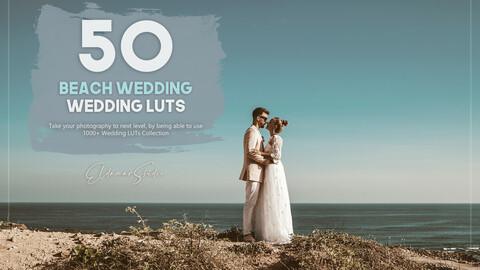 50 Beach Wedding LUTs Pack