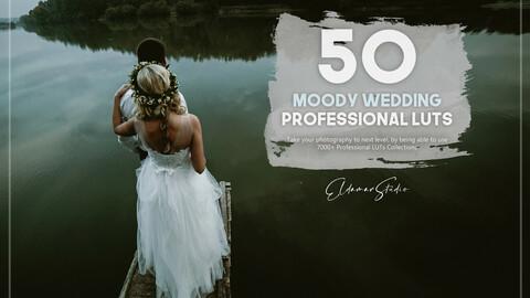 50 Moody Wedding LUTs Pack