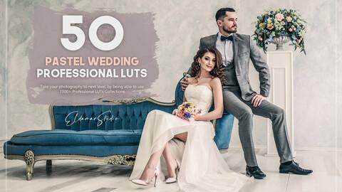 50 Pastel Wedding LUTs Pack