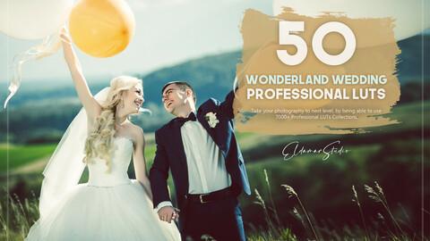 50 Wonderland Wedding LUTs Pack