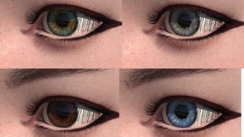 Animate 3D Cute Eyes