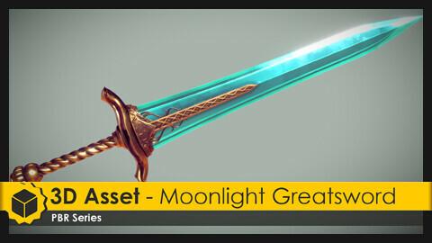 3D Asset - Moonlight Greatsword