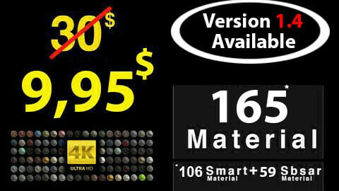 Ultra Mega Smart Material + Sbsar Material Pack ( Limited Time ) 165 pcs / Free Update