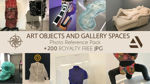 Photo Reference Pack: ART OBJECTS AND GALLERY SPACES