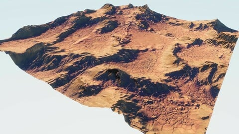 Martian surface - rocky area in Blender