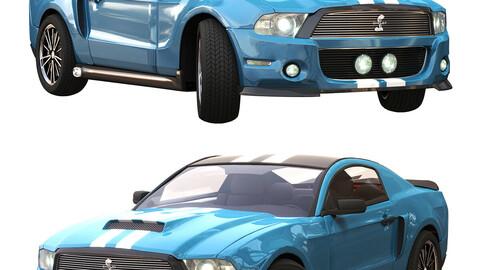 ford gt 500 sport blue color