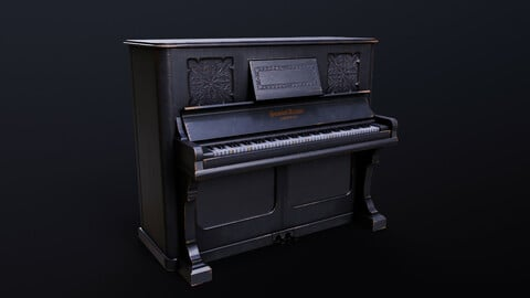 Upright Grand Piano WW2 Era