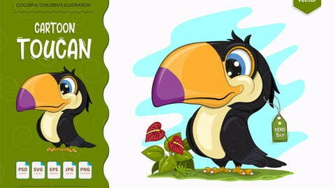 Cute cartoon toucan.