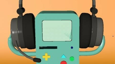 BMO with Headphones - Adventure Time - 3D Model - Cinema 4D