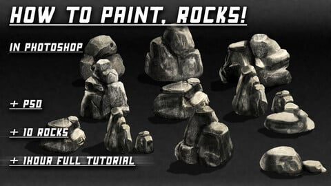 How to Paint, Rocks!
