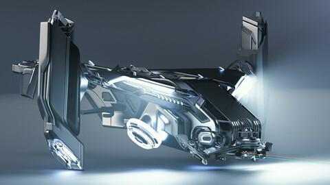 Strix Division Fortress VTOL 3D Model FREEEEE