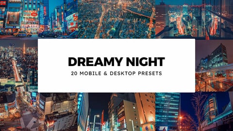 20 Dreamy Night LUTs and Lightroom Presets