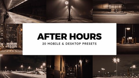 20 After Hours LUTs and Lightroom Presets