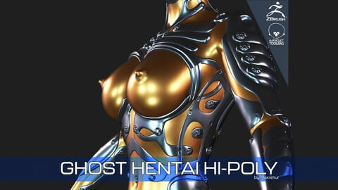 Ghost Hentai Version High-Poly 3D Model