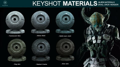 Alien Materials for Keyshot