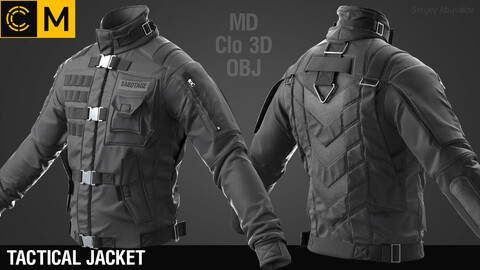 Tactical jacket #1 / Marvelous Designer / Clo 3D project + obj