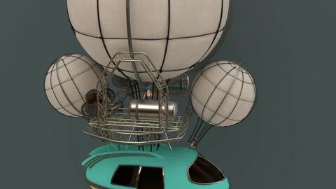 Steampunk Airship 'Atompunk'