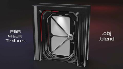 Sci-Fi Space Door Hard Surface