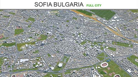 Sofia city Bulgaria 3d model 40km