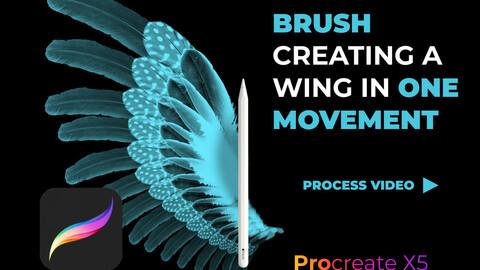 Wing brush in Procreate Procreate Brushes, Procreate Brush Set, Procreate Lettering, Procreate Brushes, Procreate Brush Brushes For Procreate