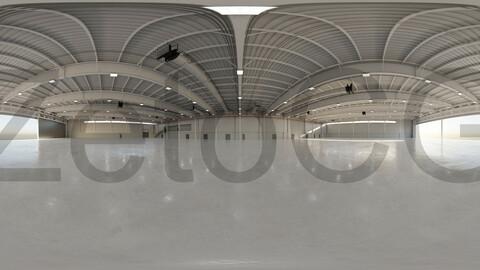 HDRI - Airplane Hangar Interior 9