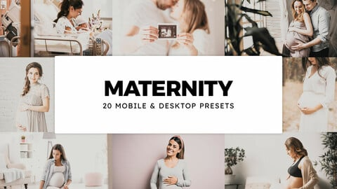 20 Maternity LUTs and Lightroom Presets