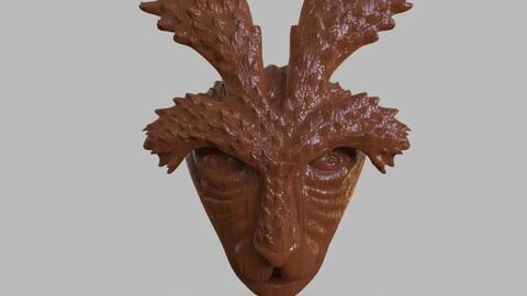 Deer God Mask Simple + Wooden Version