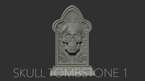 Skull Tombstone 1