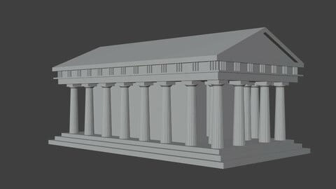 Greek temple Low Poly No Mat No Ornaments