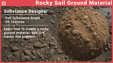 Rocky Soil Ground Material - Substance Designer