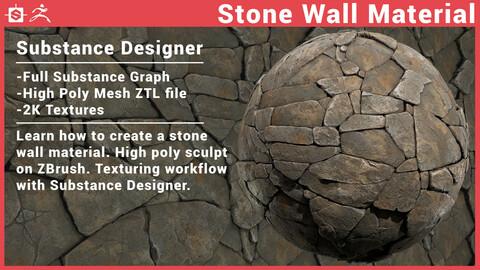 Stone Wall - Substance Designer ZBrush