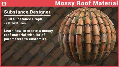 Mossy Roof Material - Substance Designer