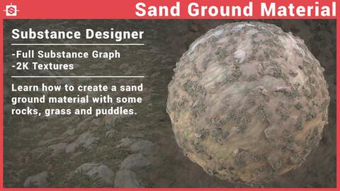Sand Ground Material Substance Designer