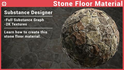 Stone Floor Material in Substance Designer